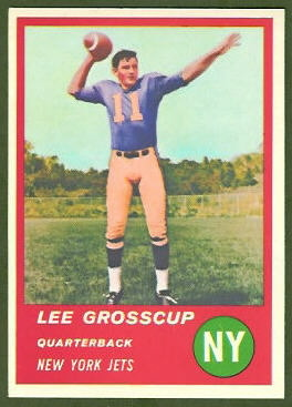 Lee Grosscup 1963 Fleer football card