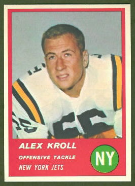 Alex Kroll 1963 Fleer football card