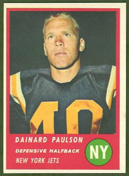 Dainard Paulson 1963 Fleer football card