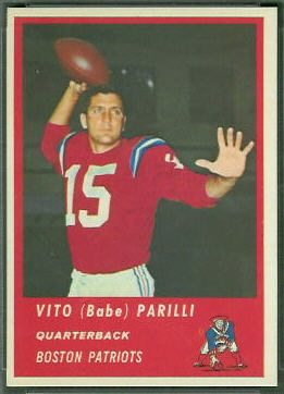Babe Parilli 1963 Fleer football card