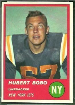 Hubert Bobo 1963 Fleer football card