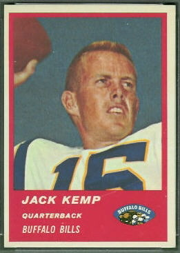 Jack Kemp 1963 Fleer football card