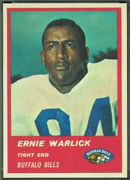 Ernie Warlick 1963 Fleer football card