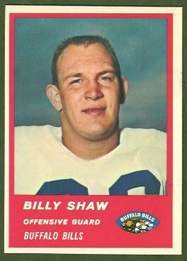 Billy Shaw 1963 Fleer football card