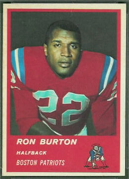 Ron Burton 1963 Fleer football card