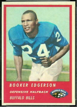 Booker Edgerson 1963 Fleer football card