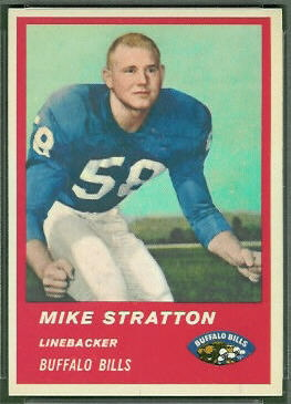 Mike Stratton 1963 Fleer football card