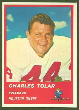 Charley Tolar 1963 Fleer football card