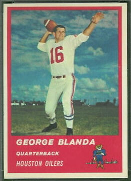 George Blanda 1963 Fleer football card