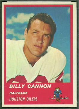 Billy Cannon 1963 Fleer football card