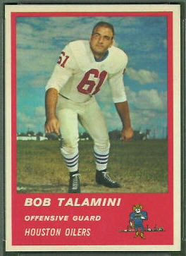 Bob Talamini 1963 Fleer football card