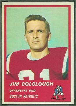 Jim Colclough 1963 Fleer football card