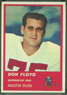 Don Floyd 1963 Fleer football card