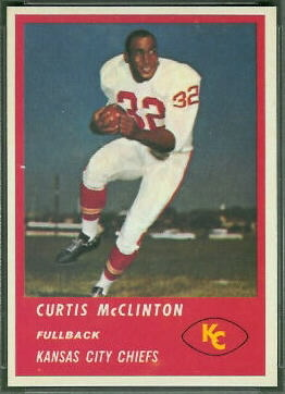 Curtis McClinton 1963 Fleer football card