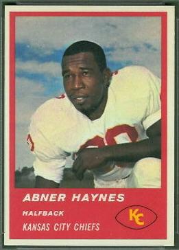 Abner Haynes 1963 Fleer football card
