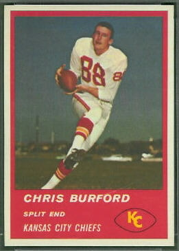 Chris Burford 1963 Fleer football card
