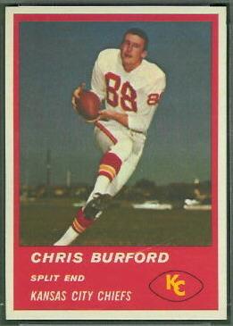 Chris Burford 1963 Fleer football card