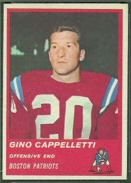 Gino Cappelletti 1963 Fleer football card