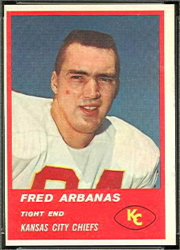 Fred Arbanas 1963 Fleer football card