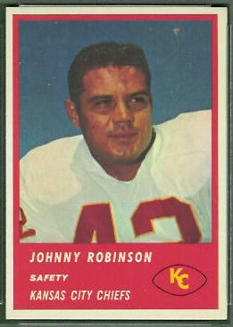Johnny Robinson 1963 Fleer football card