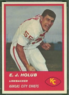 E.J. Holub 1963 Fleer football card