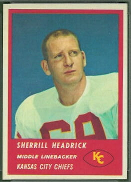 Sherrill Headrick 1963 Fleer football card