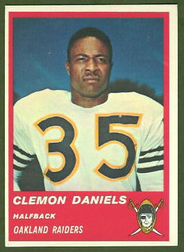 Clem Daniels 1963 Fleer football card