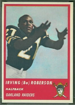 Bo Roberson 1963 Fleer football card