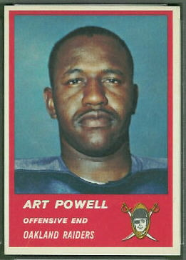 Art Powell 1963 Fleer football card