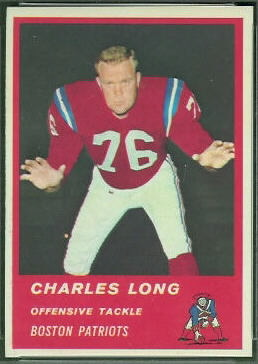 Charles Long 1963 Fleer football card