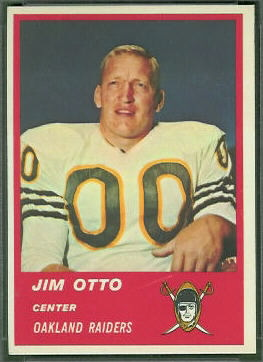 Jim Otto 1963 Fleer football card