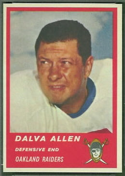 Dalva Allen 1963 Fleer football card