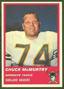 Chuck McMurtry 1963 Fleer football card
