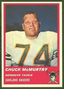 Chuck McMurtry 1963 Fleer football card
