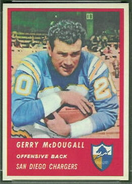 Gerry McDougall 1963 Fleer football card