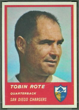 Tobin Rote 1963 Fleer football card