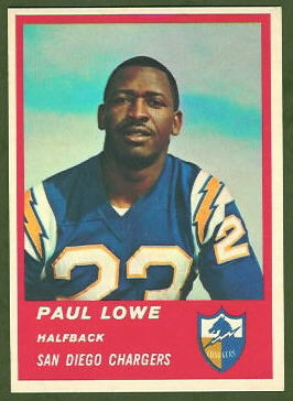 Paul Lowe 1963 Fleer football card