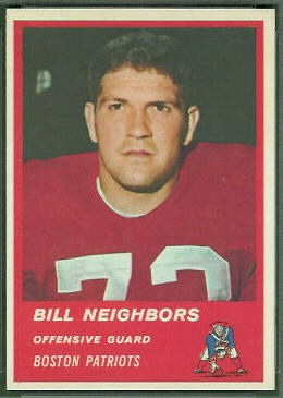 Bill Neighbors 1963 Fleer football card