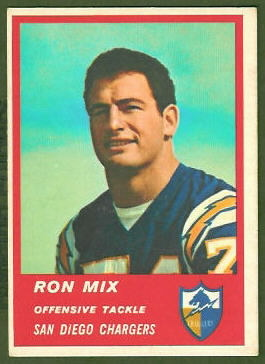 Ron Mix 1963 Fleer football card
