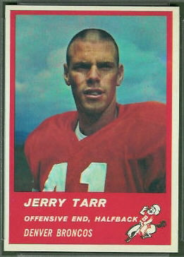 Jerry Tarr 1963 Fleer football card