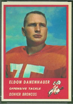 Eldon Danenhauer 1963 Fleer football card