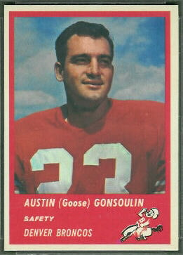 Goose Gonsoulin 1963 Fleer football card