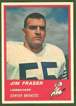 Jim Fraser 1963 Fleer football card