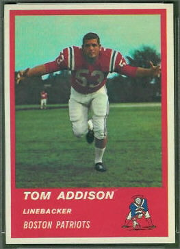 Tommy Addison 1963 Fleer football card