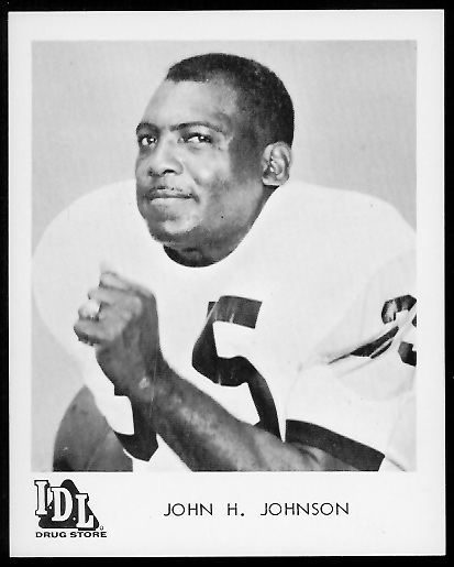 John Henry Johnson 1963 IDL Steelers football card