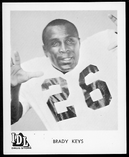 Brady Keys 1963 IDL Steelers football card