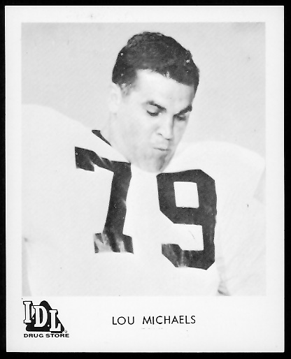Lou Michaels 1963 IDL Steelers football card