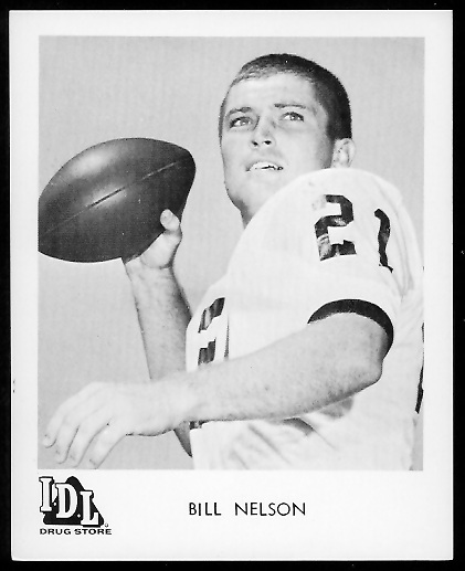 Bill Nelsen 1963 IDL Steelers football card