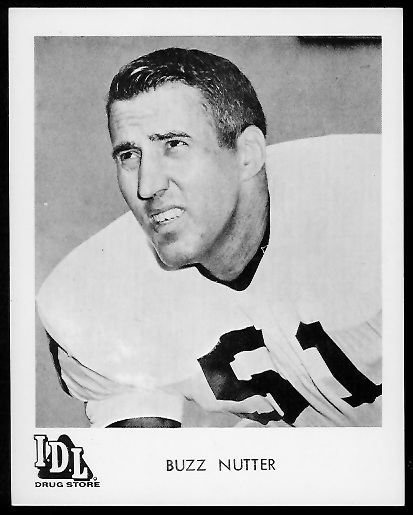 Buzz Nutter 1963 IDL Steelers football card