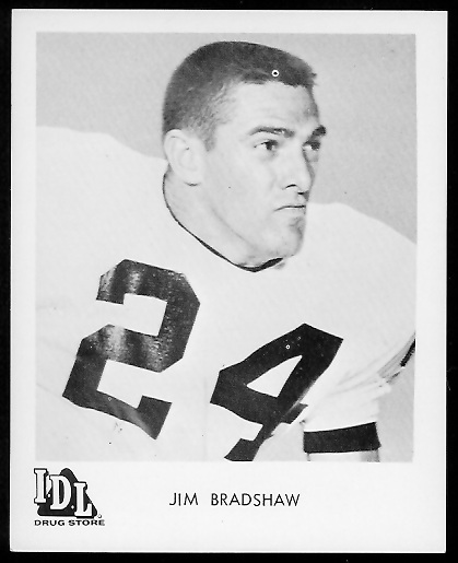 Jim Bradshaw 1963 IDL Steelers football card